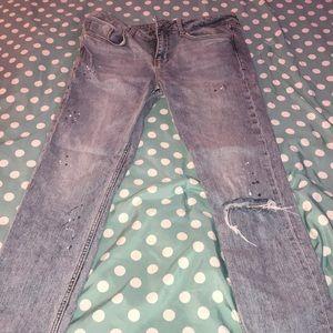 Zara paint splattered jeans! 😻